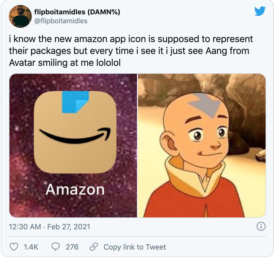Logo mới của Amazon thành đề tài chế ảnh tren mạng xã hội.