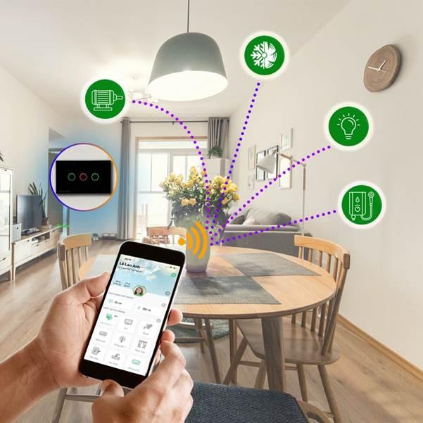 Mọi thiết bị trong nhà có thể được điều khiển qua smartphone. Ảnh: Hunonic.