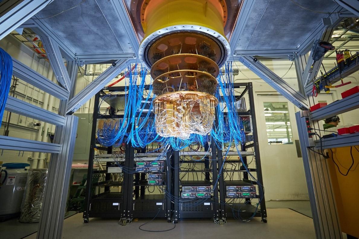 Google tuyên bố bộ xử lý Sycamore đã đạt được ưu thế lượng tử. Ảnh: Google.