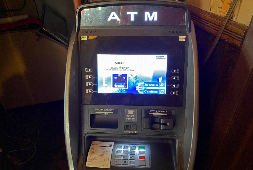 Một máy ATM Bitcoin tại khu vực New York. Ảnh: Reuters.
