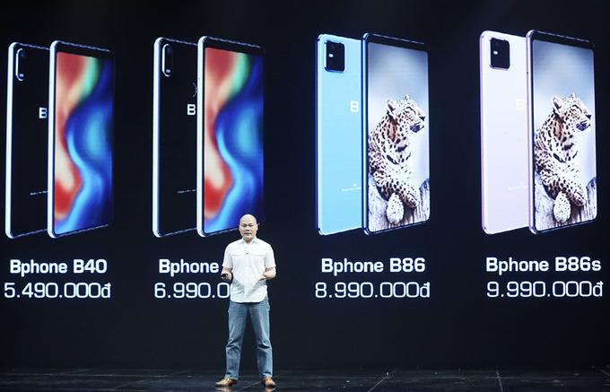 Bốn mẫu Bphone được công bố hồi tháng 5/2020.