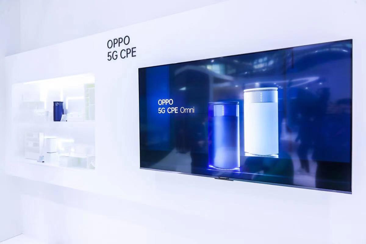 Sản phẩm Oppo 5G CPE Omni được giới thiệu tại sự kiện triễn lãm MWC Shanghai 2021.