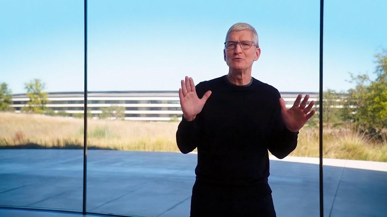 Tim Cook trong sự kiện giới thiệu máy Mac M1 của Apple. Ảnh: Apple.