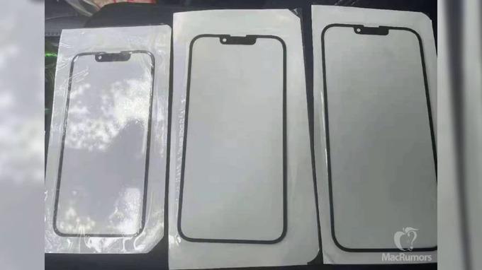 Hình ảnh được cho là mặt kính phía trước của iPhone 13. Ảnh: MacRumors.