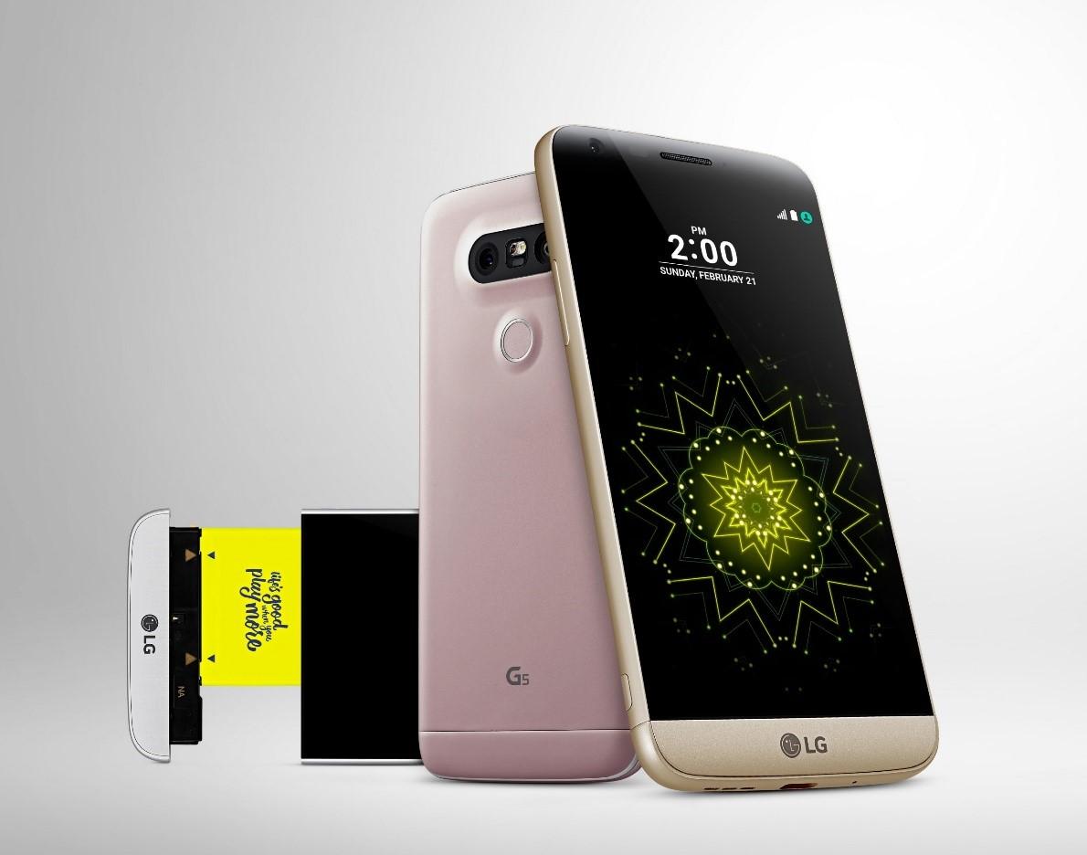 LG G5 cói thiết kế dạng mô-đun độc đáo. Ảnh: LG.