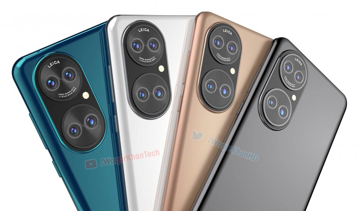 Huawei P50 series có thiết kế camera lạ mắt so với các model hiện nay. Ảnh: Gsmarena.