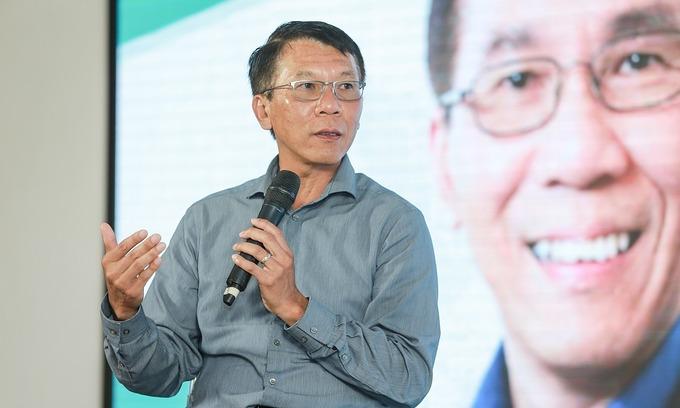 Ông Thuan Pham tại một buổi trò chuyện tại TP HCM năm 2017. Ảnh: Uber.