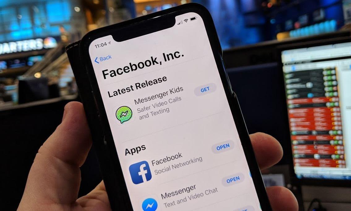 Ứng dụng Messenger Kids trên App Store. Ảnh: CNBC.