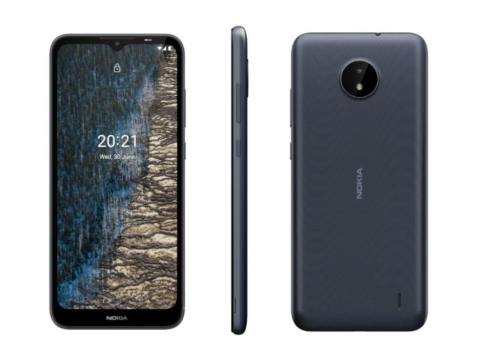 Nokia C20 smartphone phổ thông với độ bền cao.