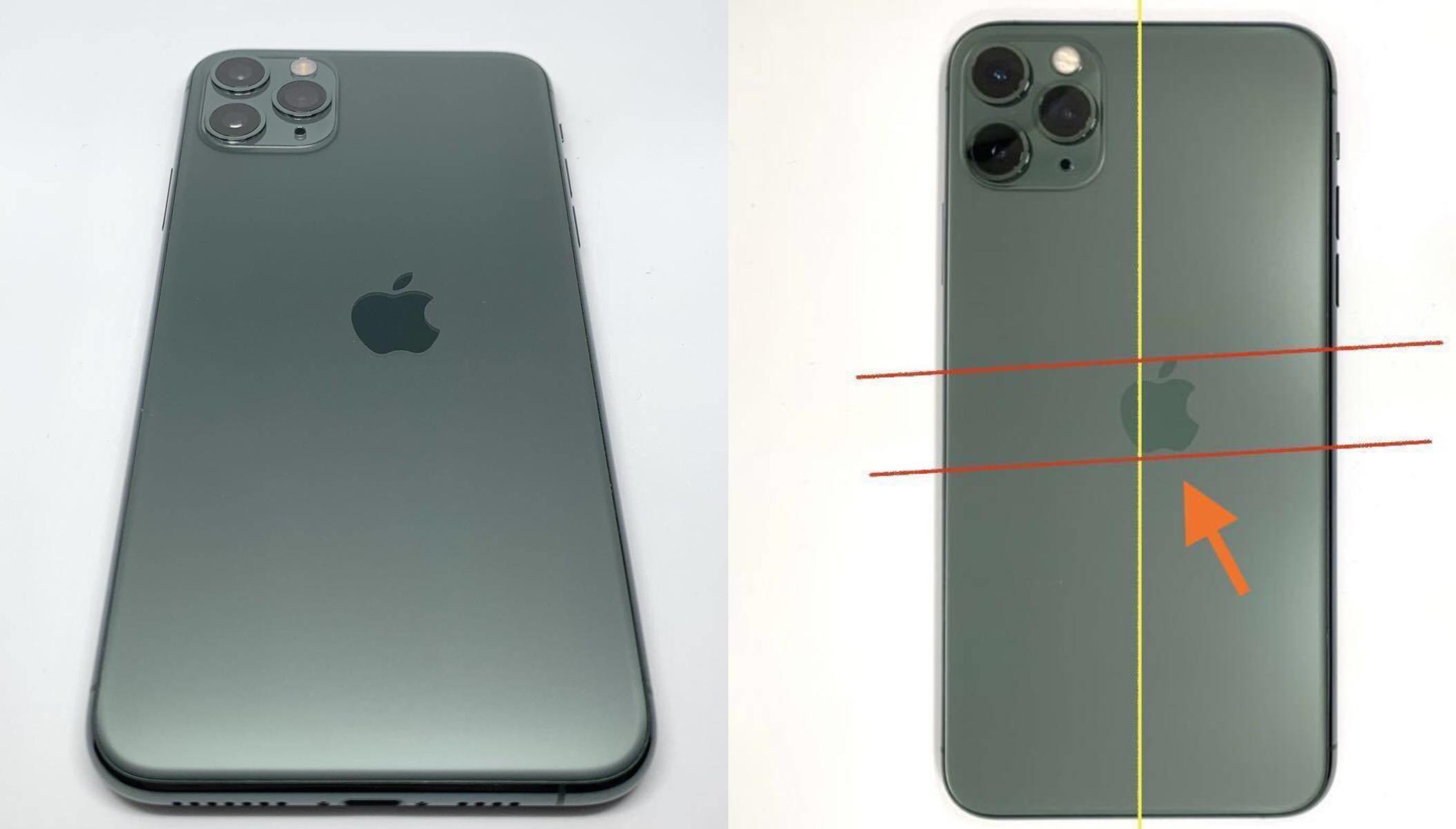 Chiếc iPhone 11 Pro với thiết kế Quả táo lệch hẳn sang một bên. Ảnh: Internal Archive.