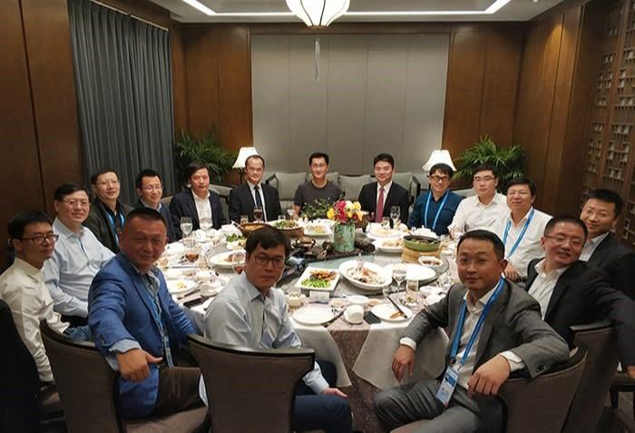 Bữa tối trên bên lề Hội nghị Internet Thế giới 2017 ở Wuzhen. Ảnh: VCG.