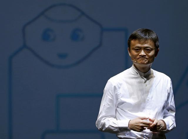 Jack Ma phát biểu trong một cuộc họp báo ở Chiba, Nhật Bản năm /2015. Ảnh: Reuters.