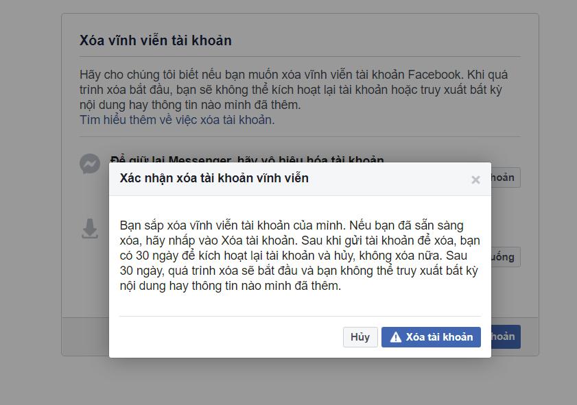 Hướng dẫn xóa hoàn toàn tài khoản Facebook - 2