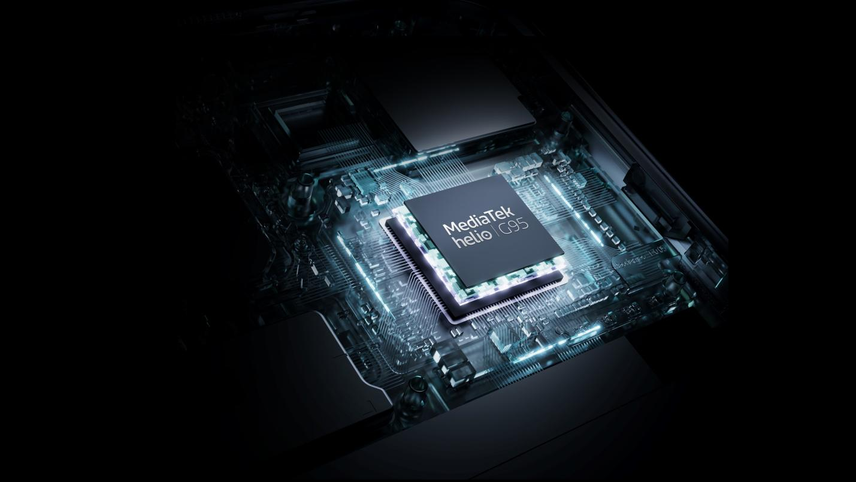 realme 8 sử dụng chip xử lý MediaTek Helio G95 chuyên dành cho game thủ.
