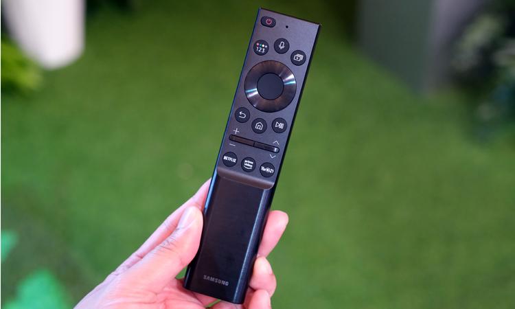 Điều khiển mới trên các dòng Neo QLED và Lifestyle TV 2021 của Samsung. Ảnh: Tuấn Hưng