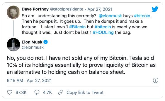 Elon Musk gián tiếp thừa nhận đang sở hữu Bitcoin nhưng vẫn giữ đồng tiền ảo này.