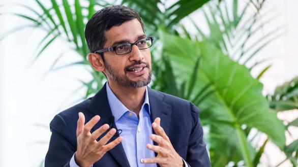 Sundar Pichai - giám đốc điều hành của Alphabet, công ty mẹ của Google - cho biết công ty sẽ linh động hơn và tìm ra những giải pháp làm việc từ xa - Ảnh: CNBC