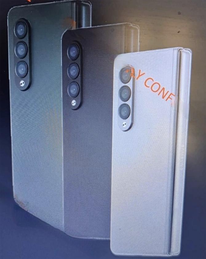 Z Fold 3 thiết kế lại cụm camera.