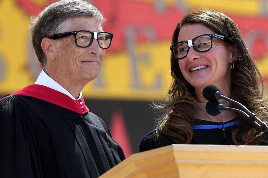 Bill Gates và Melinda Gates. Ảnh: AFP.