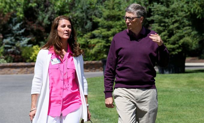 Bill và Melinda Gates tại một sự kiện ở Sun Valley, Idaho năm 2014. Ảnh: Reuters.