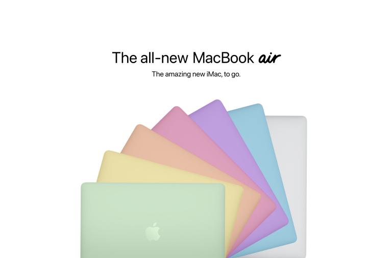 Concept MacBook Air nhiều màu của nhà thiết kế Parker Ortolani.