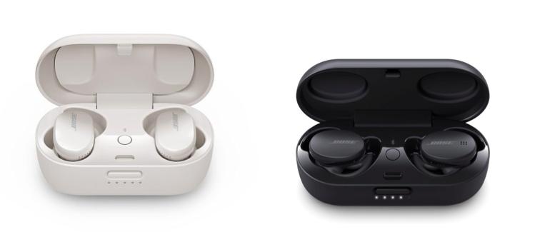 Tai nghe Bose QuietComfort (bên trái) và Sport Earbuds (bên phải)