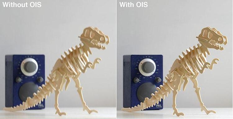 Thử nghiệm chụp ảnh với OIS tắt (trái) và bật (phải).