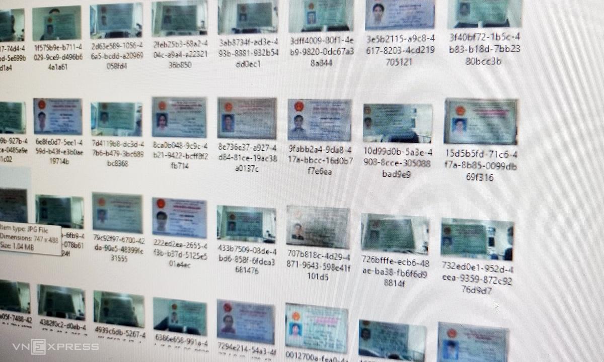 Dữ liệu chứng minh thư và căn cước công dân của người Việt đang bị rao bán.