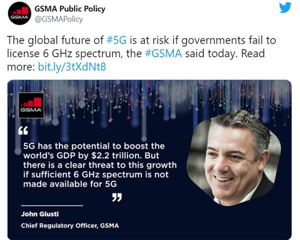 GSMA lo ngại tiềm năng kinh tế của 5G gặp rủi ro.