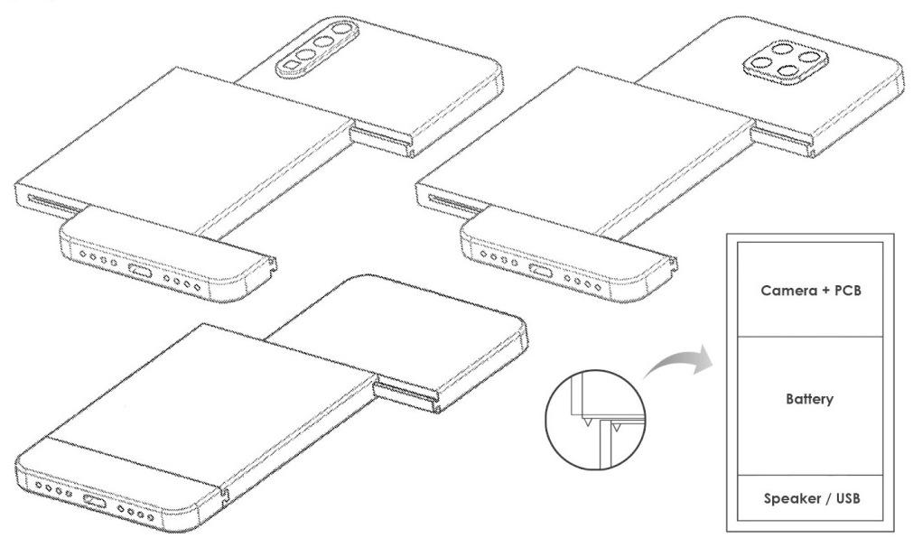 Thiết kế điện thoại module của Xiaomi. Ảnh: BGR.