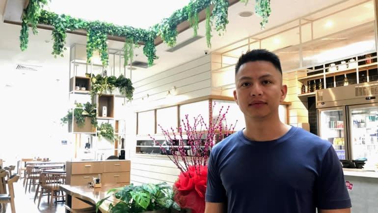 Ngô Minh Hiếu, biệt danh là Hieupc khi gặp gỡ phóng viên Lien Hoang của Nikkei Asia.
