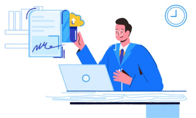 FPT.eContract giúp doanh nghiệp không mất chi phí in ấn, chuyển phát, loại trừ rủi ro thất lạc hợp đồng. Ảnh: FPT IS.