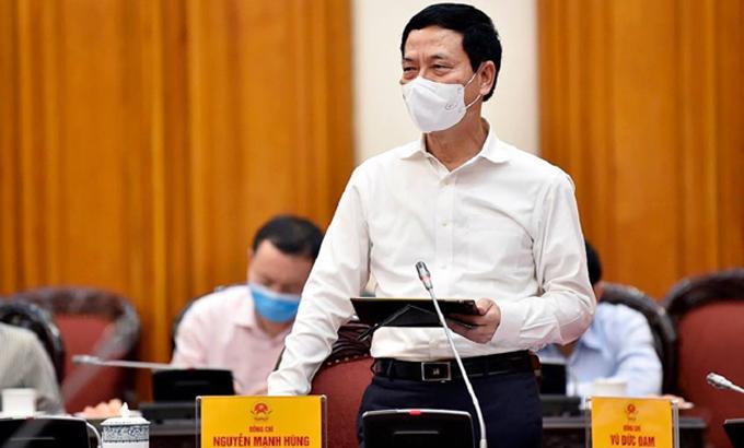 Bộ trưởng Bộ Thông tin và Truyền thông Nguyễn Mạnh Hùng. Ảnh: mic.gov.vn.