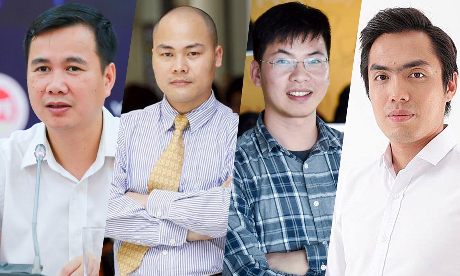 Từ trái qua, ông Bùi Thế Duy, Nguyễn Tử Quảng, Trần Việt Hùng, Huy Nguyễn. 4 diễn giả sẽ tham gia tọa đàm trực tuyến, phiên 6, của CTO Talks, vào lúc 11h ngày 4/6.