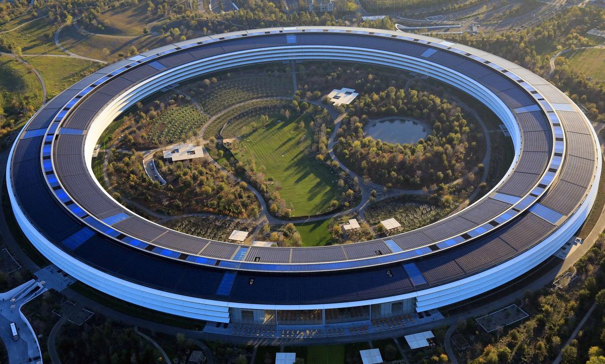 Trụ sở Apple ở bang California, Mỹ. Ảnh: New York Times.