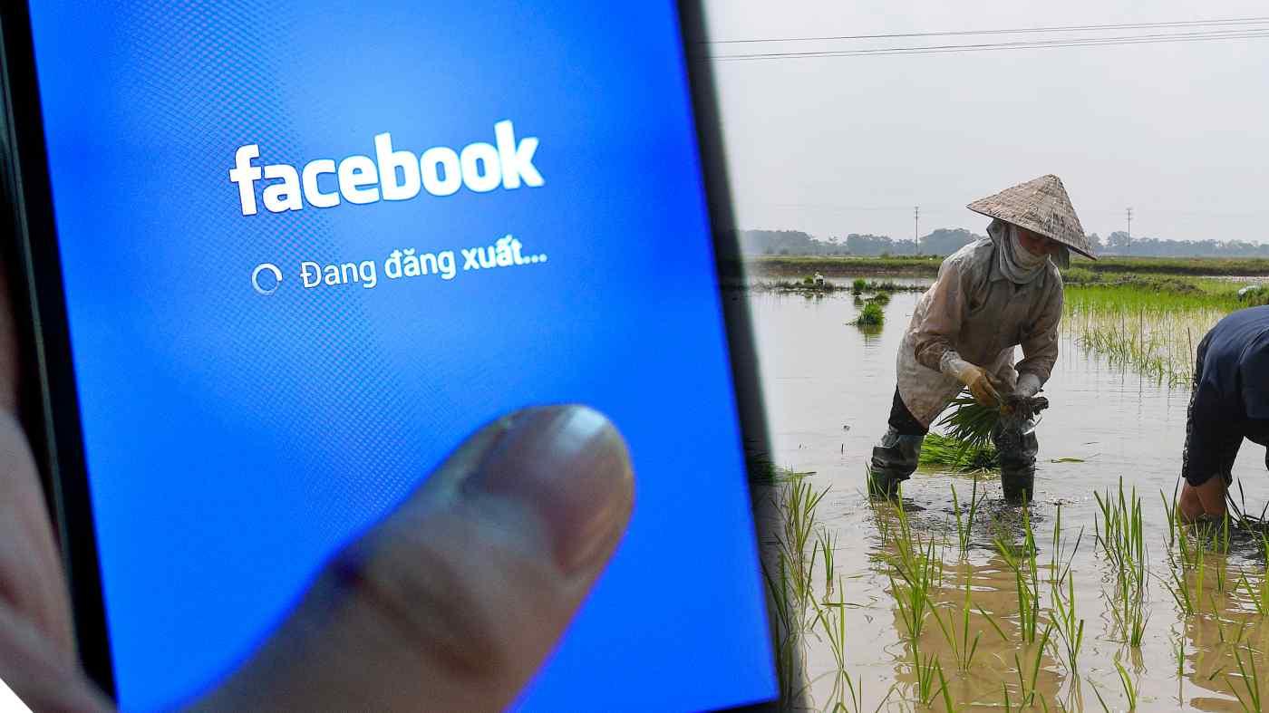 Facebook nhận thấy cơ hội tăng trưởng ở nông thôn Việt Nam. Ảnh: AFP.