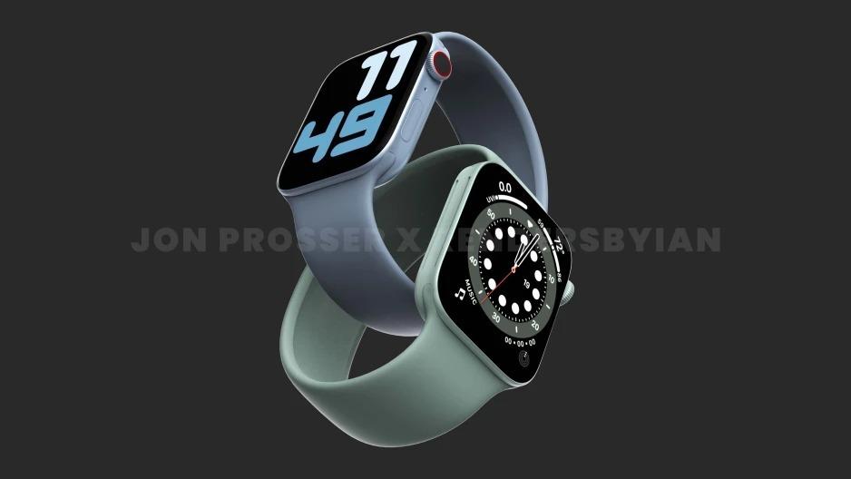 Apple Watch Series 7 không nâng cấp mạnh về tính năng như các tin đồn trước đó. Ảnh: Jon Prosser.
