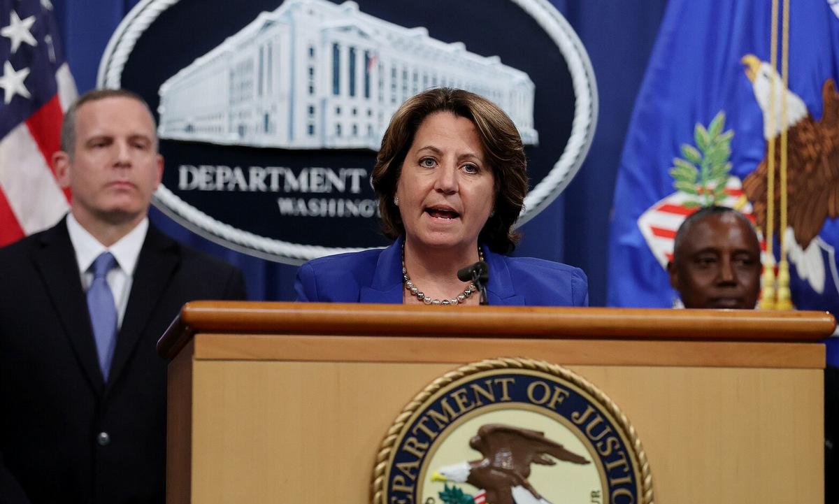 Thứ trưởng Tư pháp Lisa Monaco thông báo thu hồi một phần tiền chuộc vụ Colonial Pipeline. Ảnh: New York Times.