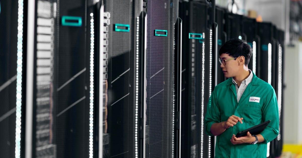 Máy chủ HPE sử dụng chip SMD EYPC là lựa chọn hàng đầu của Doanh nghiệp định hướng dữ liệu. Nguồn: HPE