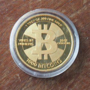 Đồng Physical Bitcoin chứa 1.000 Bitcoin mà Jay đã mua với giá 5.000 USD năm 2013. Ảnh: CoinTelegraph.