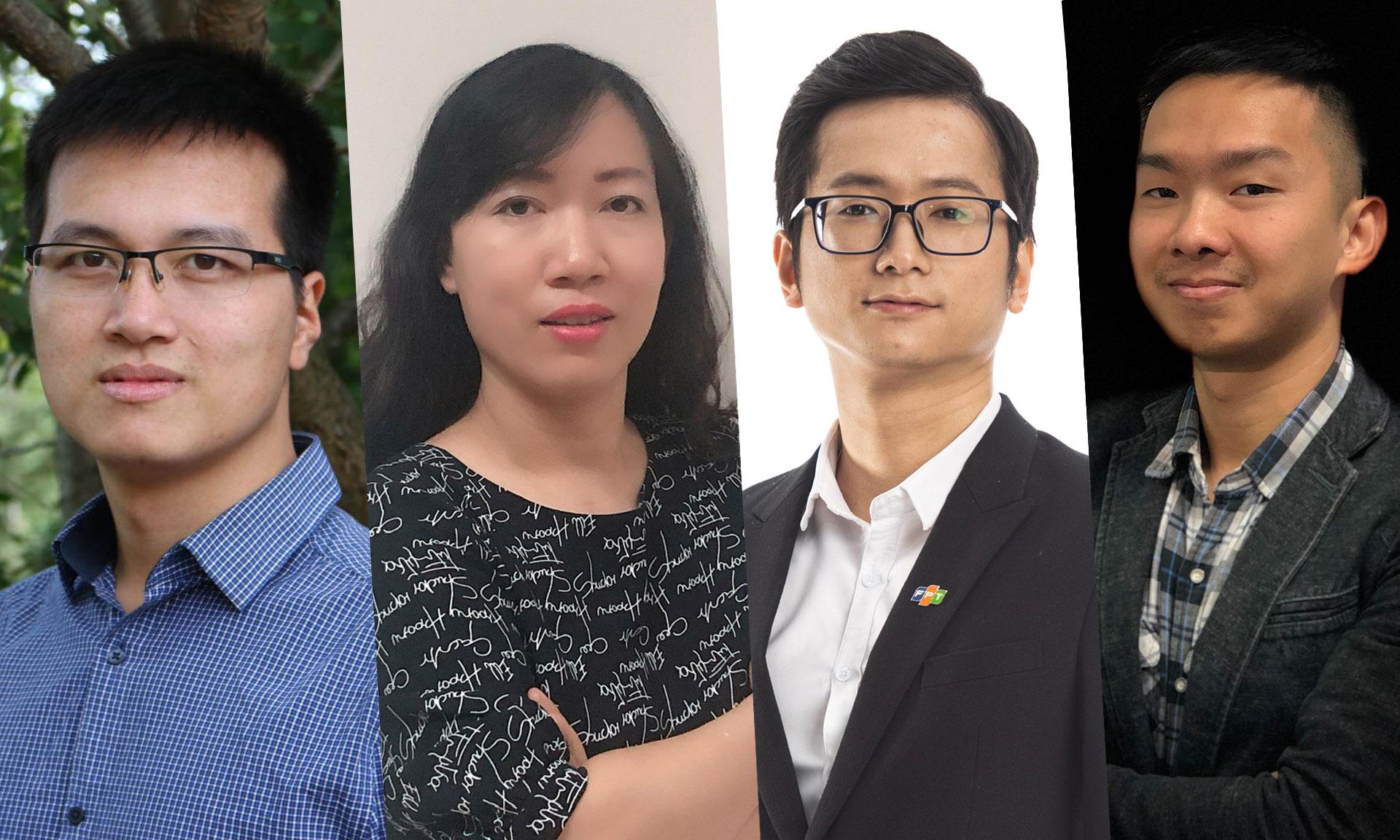 Bốn diễn giả của CTO Talks diễn ra vào 10h ngày 18/6: Ông Tiến sĩ Vũ Hữu Tiệp, bà Nguyễn Thị Minh Thuý, Nguyễn Thượng Tường Minh, Vũ Hải Nam.