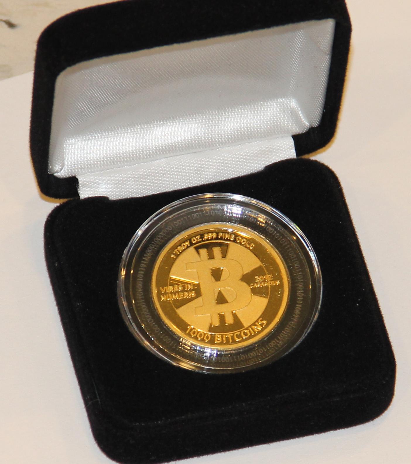 Đồng 1.000 Bitcoin. Ảnh: CoinTelegraph.