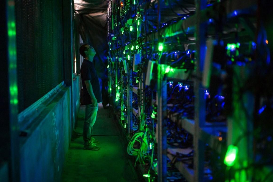 Một cơ sở khai thác tiền điện tử tại Tứ Xuyên,Trung Quốc. Ảnh: Washington Post.