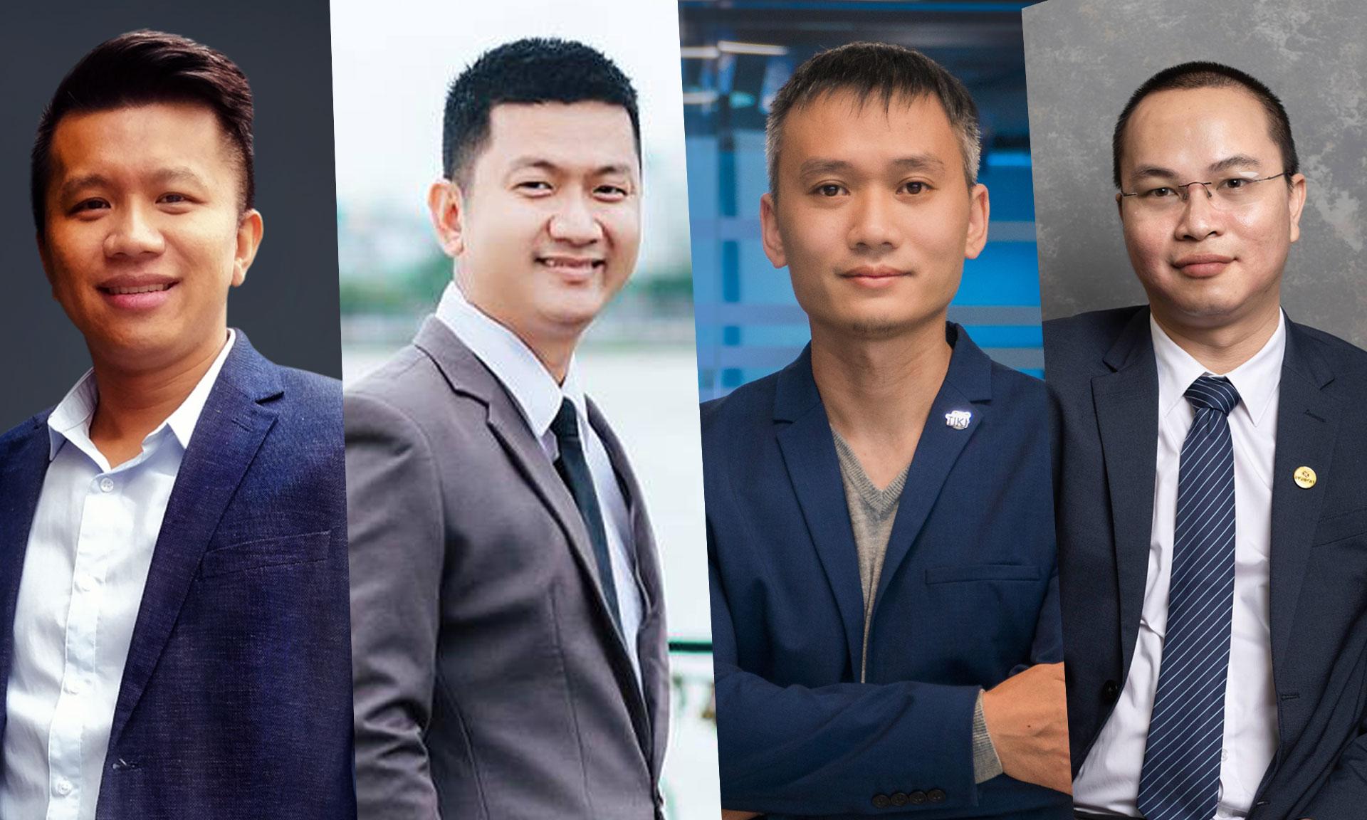 Từ trái qua phải, ông Huỳnh Lâm Hồ, ông Trần Minh Dũng, ông Nguyễn Thành Long và ông Nguyễn Trung Kiên sẽ tham gia CTO Talks ngày 22/6.