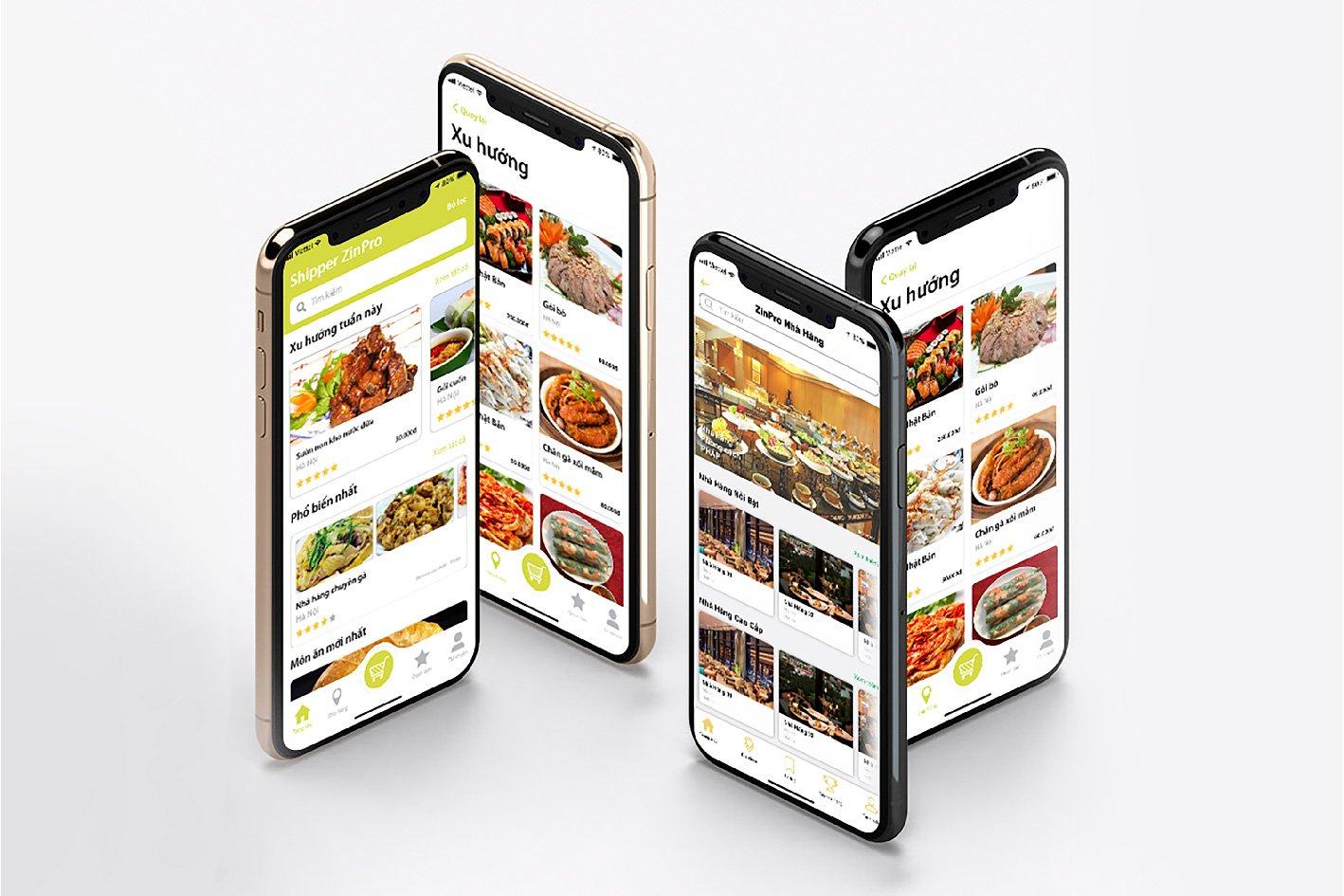 Loạt thiết kế ứng dụng của ZinPro dành cho nhà hàng, quán ăn.