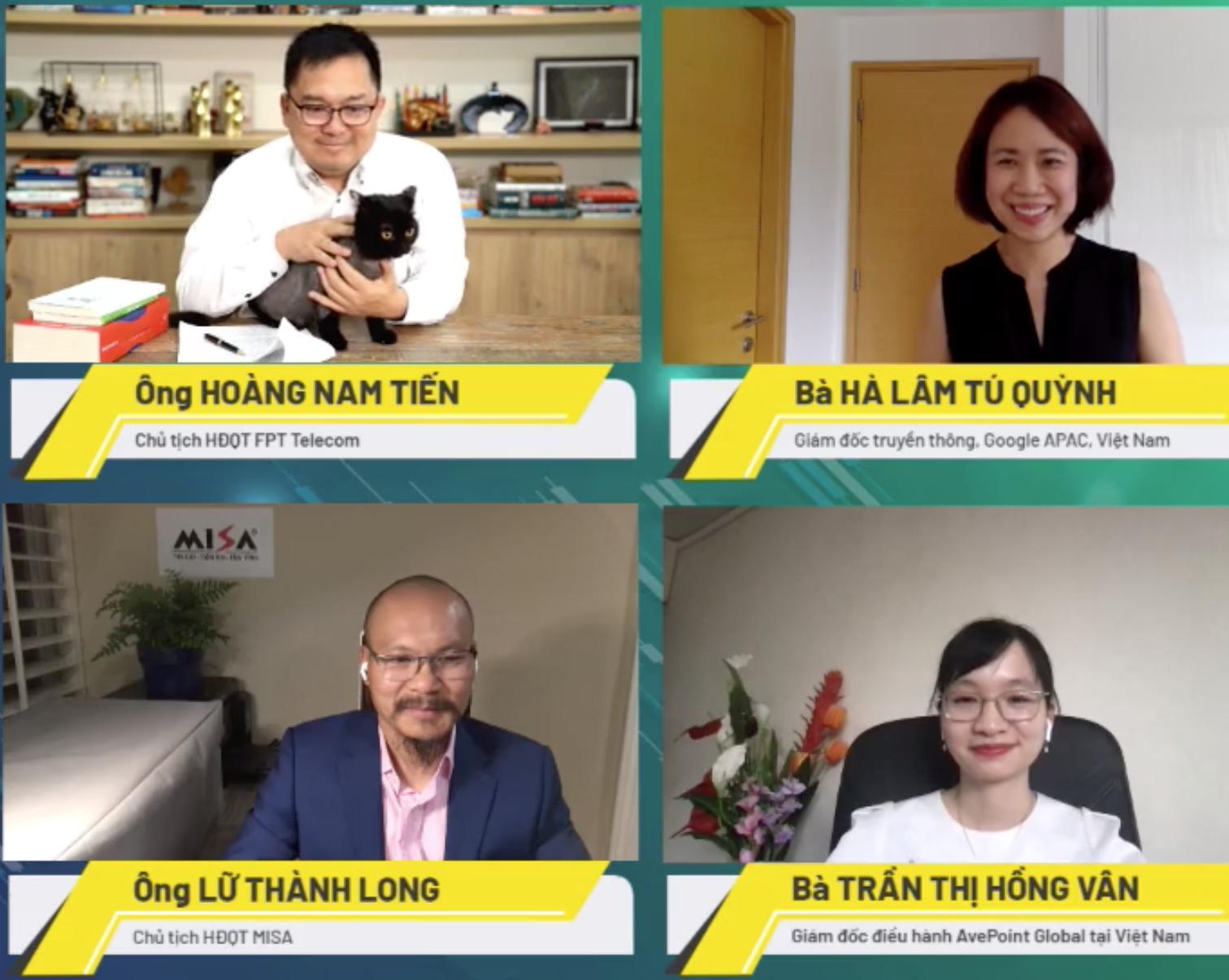 Bốn diễn giả trong CTO Talks ngày 24/6 với chủ đề Làm việc từ xa - Mô hình của tương lai?