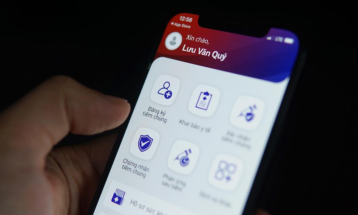 Người dân tại Hà Nội có thể đăng ký tiêm qua tính năng của ứng dụng Sổ sức khỏe điện tử.