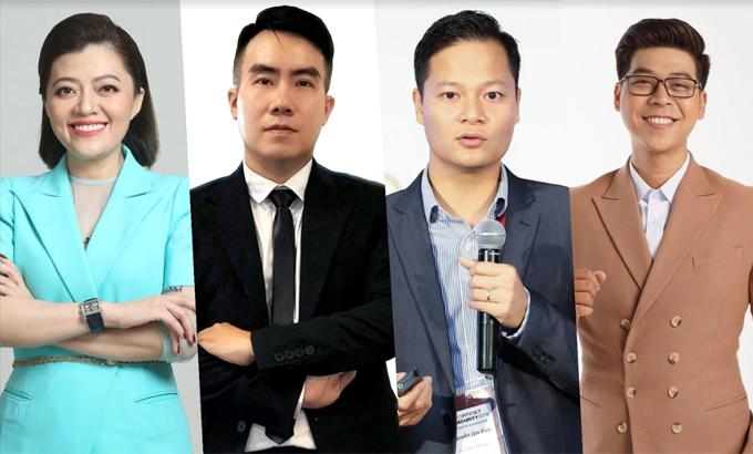 Diễn giả tham gia CTO Talks phiên số 15: bà Trương Lý Hoàng Phi, ông Ngô Mạnh Cường, ông Nguyễn Gia Đức và ông Vĩnh Phú.