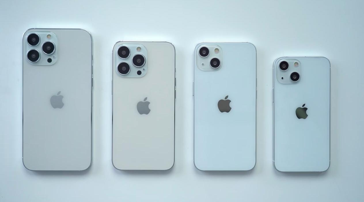 Loạt mô hình được cho là của iPhone 13. Ảnh: MacRumors.