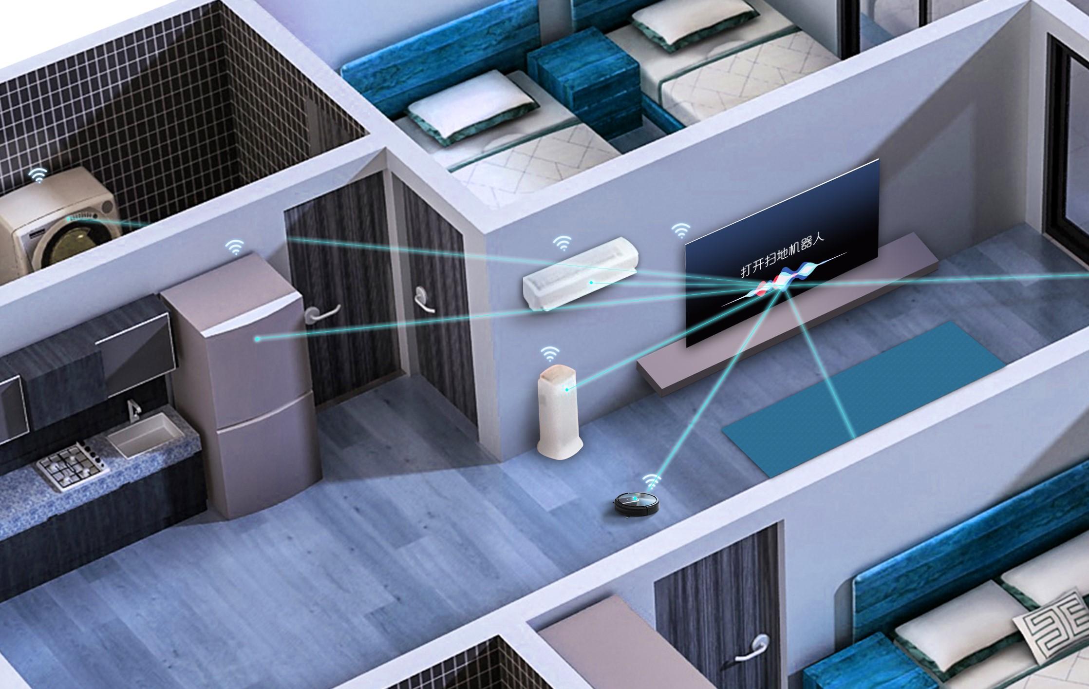 Smart TV AI Aqua có thể kết nối và điển khiển các thiết bị thông minh trong gia đình như tủ lạnh, điều hòa, máy giặt...